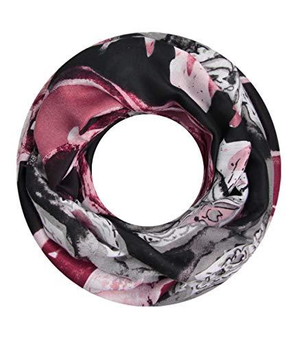 Majea NEUE Saison Damen Loop Schal viele Farben Muster Schlauchschal Halstuch in aktuellen Trendfarben (grau 24)