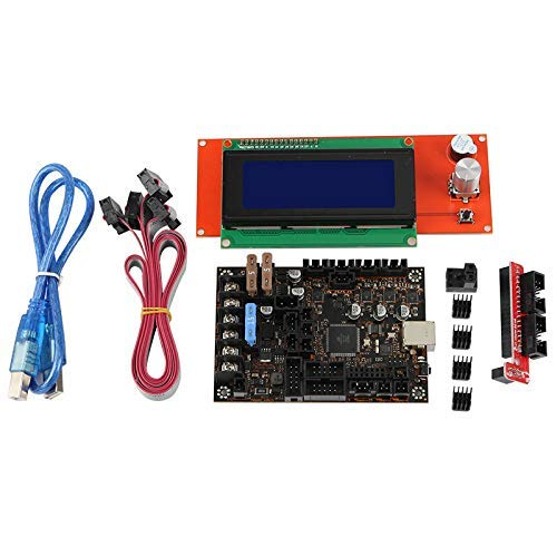 IMWANN ZXG 3D Printer Motherboard Kit for Prusa MK3/3S Einsy Rambo 1.1B with TMC2130 SPI+2004Lcd