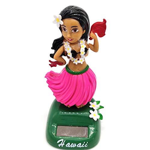 Hawaii Fille De Danse Figurine,Danseuse Hawaienne Voiture Qui Bouge,Danseuse Solaire Figurine Solaire Dansante, Figurine Hawaïenne Voiture Décoration De Voiture Solaire Danse Jouet Bureau Fournitures
