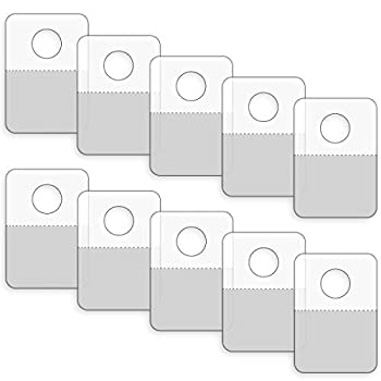 Neworkg 300 Pack Round Hole Adhesive Hang Tabs - 1.57  x 1.02  Heavy Duty Adhesive Hang Tags for Store Retail Display 0.4mm Thickness