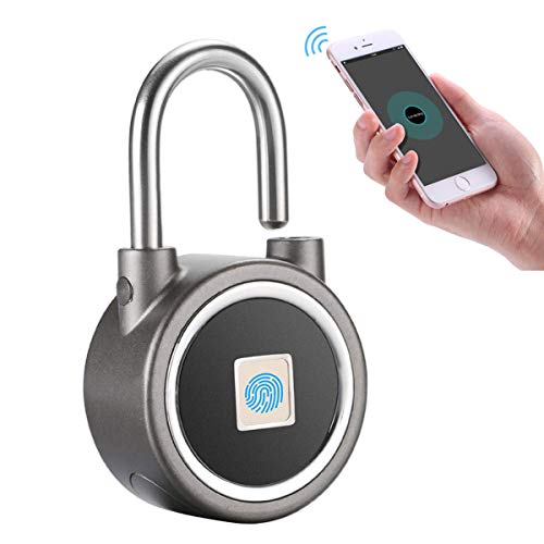 YDI Candado Inteligente con Huella Digital, Bluetooth Candado sin Llav