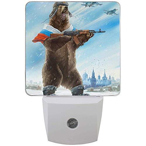 Katrine Store Guardia della lampada a luce notturna plug-in Sergeant Arctic Breast con sensore da crepuscolo all'alba Confezione da 2