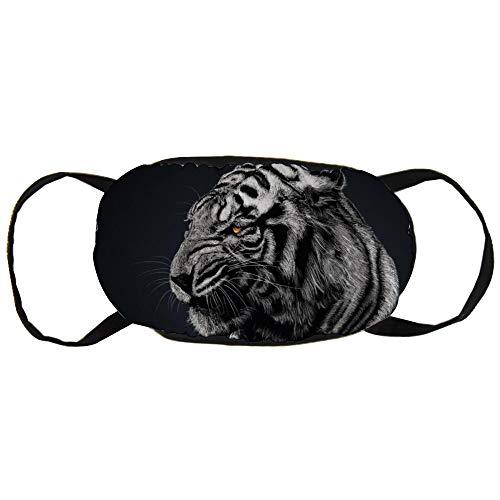 Máscara de contaminación del polvo, papel pintado de tigre a rayas n