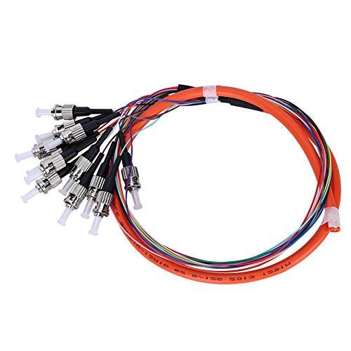 Cable Flexible de Fibra Óptica Codificado Por Color de Fibra Óptica Multimodo de 12 Núcleos ST/UPC-MM-0.9 para El Sistema de Comunicación de Redes