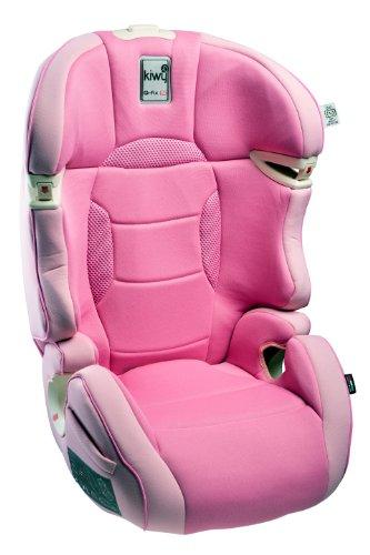 Kiwy 14003KW07B Kinderautositz SLF23 mit Q-Fix Adapter für Isofix, Gruppe 2/3, 15-36 KG, candy pink