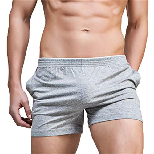 KFT Summer Man Shorts Gym Sexy Beach Sports Jogger Solid Color Surf Fitness Short Gray M