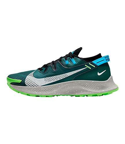 Nike Pegasus Trail 2, Zapatillas para Correr Hombre, Dk Teal Green LT Silver Black LT Blue Fury Green Strike, 42.5 EU