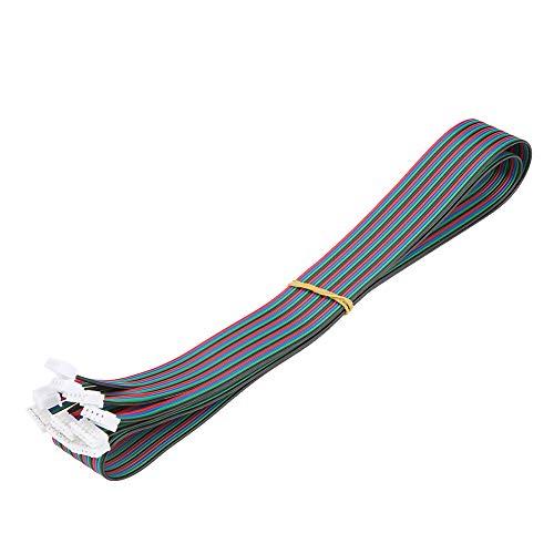 Yosoo Health Gear Schrittmotor Kabel 4 Polig, XH2.54 Kabel, 5 Stück Schrittmotorkabel PH2.0 XH2.54 Buchse für Nema16 Nema17 Schrittmotor 1m