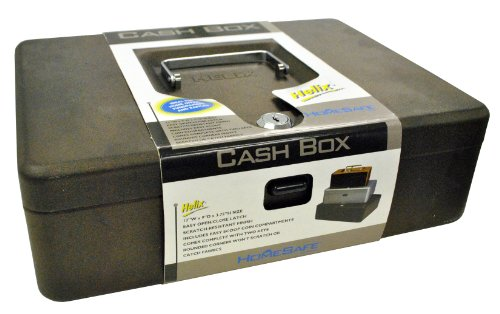 Helix Locking Cash Box with Latch, 12 Inch, Copper (27016)