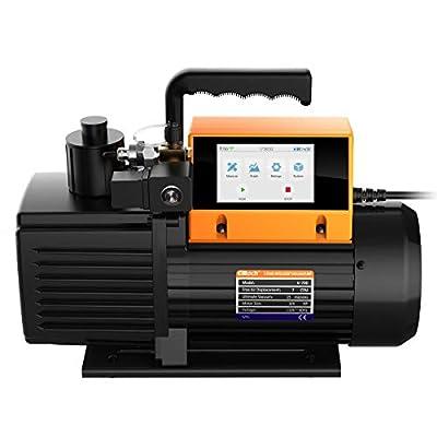 Elitech Vacuum Pump 2 Stage Intelligent HVAC Refrigerant Recharging, Touch Screen, Data Logging and Storage via App