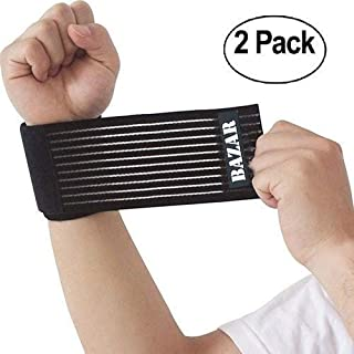 Wrist Support Brace for Men & Women. [2 Pack] for Work Out & Fitness,  Weight Lifting,  Injury Prevention,  Pain Relief and Recovery. Effective for Carpal Tunnel & Sprains. Fully Adjustable