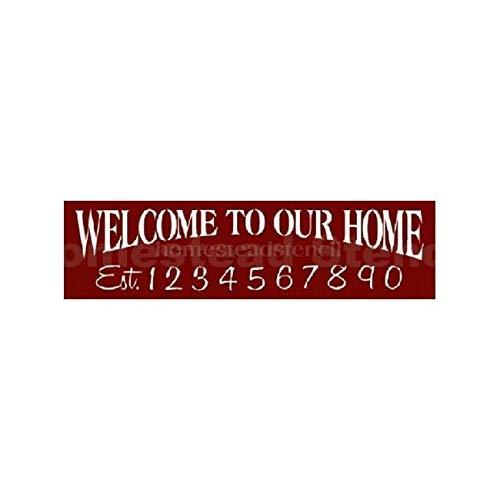 Ced454sy Gift 6x24 Welkom bij ons thuis Maak onze eigen Teken Schilderij Sjabloon Craft DIY Schilderij Muur