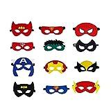 Superhelden Masken, Filz Superhero Cosplay Party Masken Halbmasken mElastischen Seil für Erwachsene...