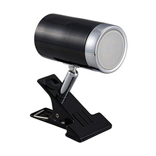 OHM LEDクリップライト 4.2W ブラック 電球色 [品番]06-1449 LTL-CK5L-K
