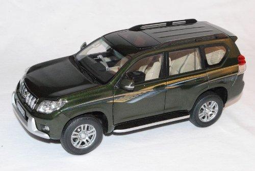 Paudi Toyota Land Cruiser J15 Prado Ab 2009 Grün 1/18 Modell Auto mit individiuellem Wunschkennzeichen