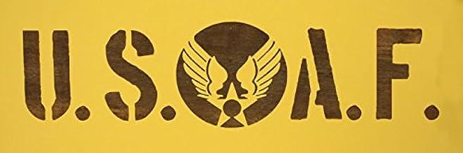 【紙製 ステンシル シート】 USAF 旧ロゴ USエアフォース 軍隊文字 型紙