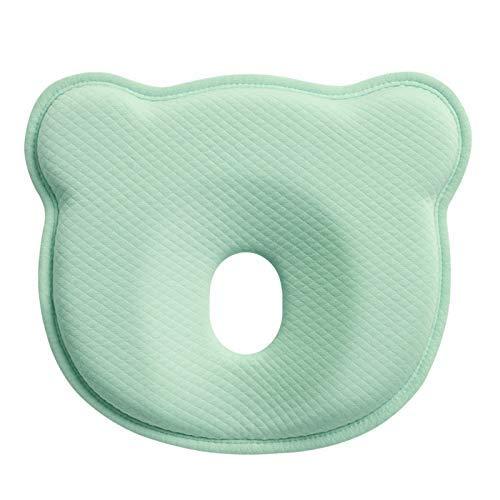 Muitar Almohada de forma de cabeza de bebé, almohada infantil para dormir recién nacido Prevenir cabeza plana