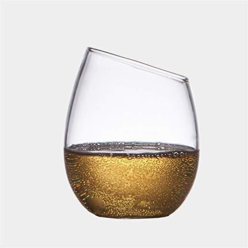 Z-Y Wijnglazen rood Goedkoop en verfijnd 300ml glas van de cocktail Bevel winebowl Vodka Red wijnglas Juice beker Gift Bar familie drinkbenodigdheden #Z (Capacity : 201 300ml, Color : Clear)