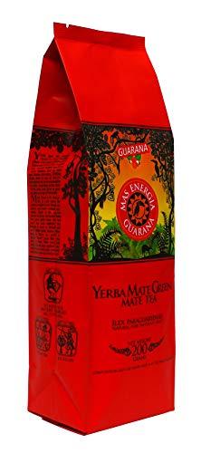 Yerba Mate Green 'Mas Energia Guarana' Brasilianischer Mate-Tee 200g | fruchtiges Mate Tee | mit Guarana, Minzblatt, Zitronengras, Kornblumenblüten, Ringelblumenblätter und Mango-Aroma 8190-T