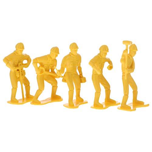 EXCEART 45 Piezas Modelo Tren Personas Pequeño Ingeniería Hombre Modelo Juguete Plástico Escala Modelo Personas Figuras para Escenas en Miniatura Tren Ferrocarril Arena Mesa Decoración