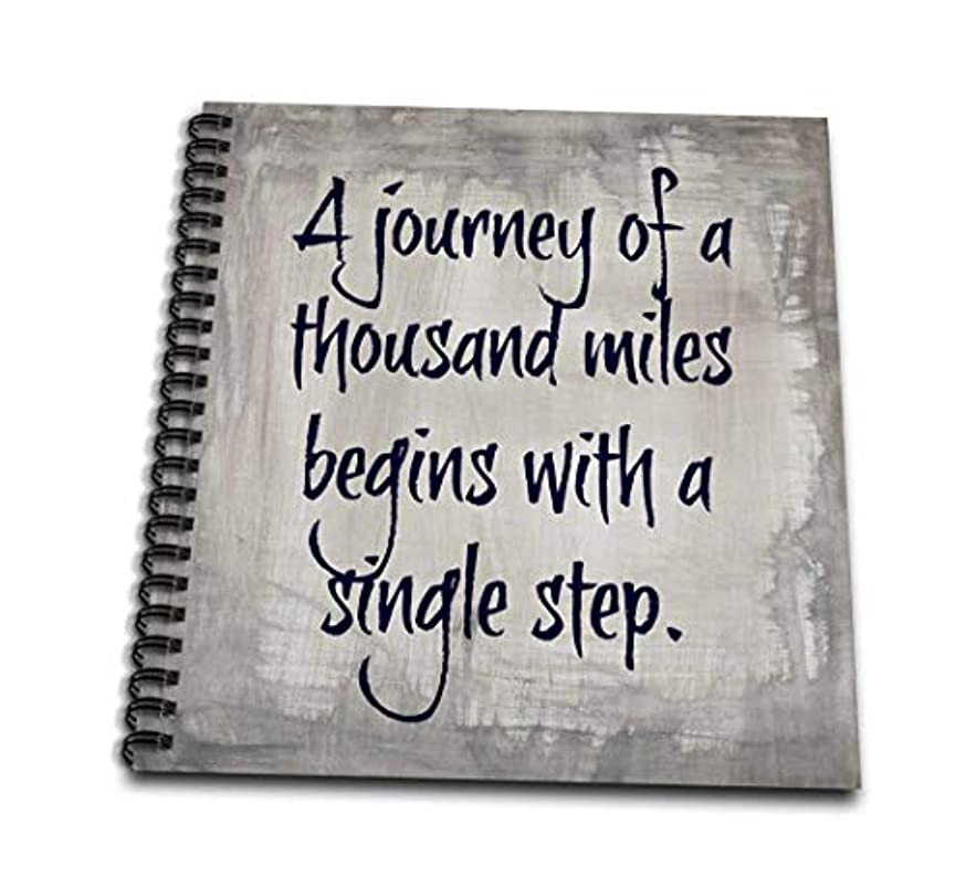 3dRose db_180045_2 Journey of 1000 Miles Single Step, Purple Letters on Silver Background-Memory Book, 12 by 12-Inch