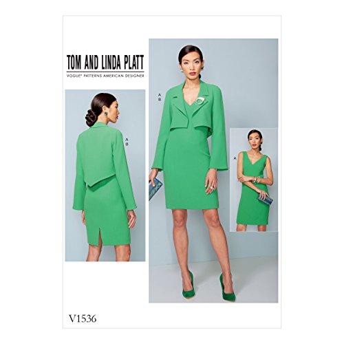 Vogue Patterns Patrons/Petite Veste et Robe, Multicolore, Tailles 14–22