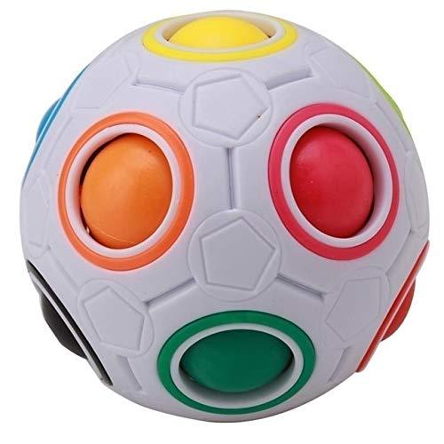 Ballylelly Rainbow Magic Ball Plastikwürfel Twist Puzzle für Teenager Adult Toy