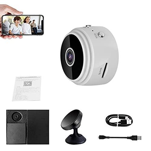 Dispositivo de monitoreo TrailerHitch, cámara IP inalámbrica A9 Mini WiFi HD 1080p, cámaras de Video de Seguridad para el hogar / Oficina / automóvil con Soporte (Blanco)