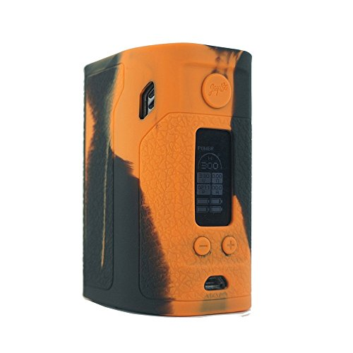 ModShield for Wismec Reuleaux RX300 TC 300W Silicone Case ByJojo Sleeve Skin Wrap Cover (Orange/Black)
