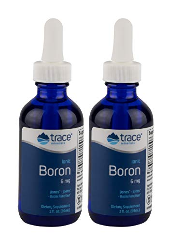 Trace Minerals Liquid Ionic Boron, 6mg, 2 oz (Pack of 2)