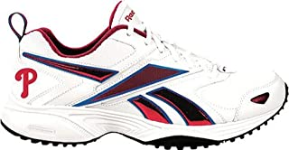 Reebok Philadelphia Phillies Mens Size 11 1/2 Pro Evaluate Trainer Sneaker Shoe White/Red/Blue F1 10 sz 11.5