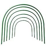 b&p tunnel hoops serra cerchi grow tunnel hoop per piante serra perserra da giardino piante protezione e crescere 6 pz hoop serra arch tunnel (50 * 47cm)