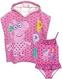 Peppa Pig Girls Badeanzug & Kapuzenhandtuch Poncho Set 2-3 Jahre