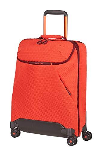 Samsonite Neoknit - Borsone con 4 Ruote S, 55 cm, 36.5 L, Arancione (Fluo Red/Port)