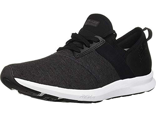 New Balance Women's FuelCore Nergize V1 Sneaker, Black with Grey & White, 7 B US