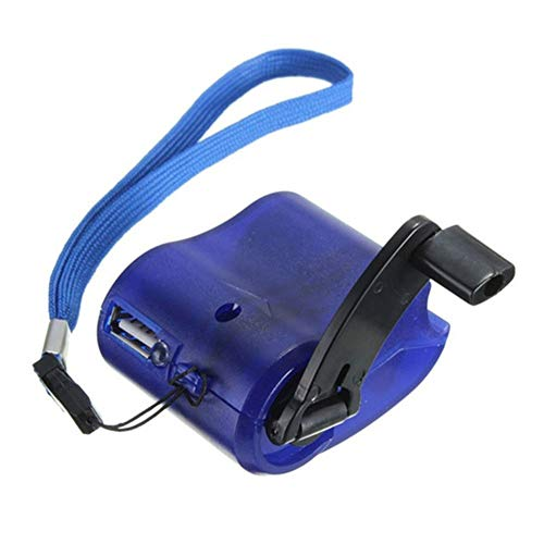 Rosepoem Al aire libre de emergencia portátil de mano dinamo de mano manivela cargador de carga USB de camping mochila de supervivencia equipo