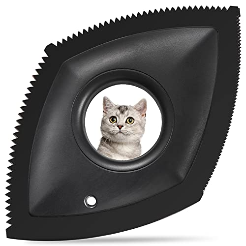 cat hair remover furnitures YARENKA Mini Pet Hair Remover for Couch/Car Detailering Dog Hair Remover Cat Hair Remover - Professional Hair Removal Tool Fur Removal Brush for Home Fabric, Furniture, Couch or Carpet (Black)