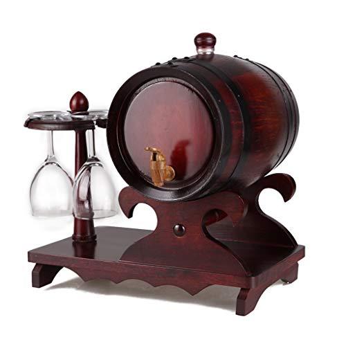 Hmvlw Decoraciones de esculturas Familia reuniendo Creativo Roble Barril 5 litros Difusor de Vino a Granel de Madera Usado para almacenar Whisky, Vino, Barra de Whisky escocés ( Color : B )