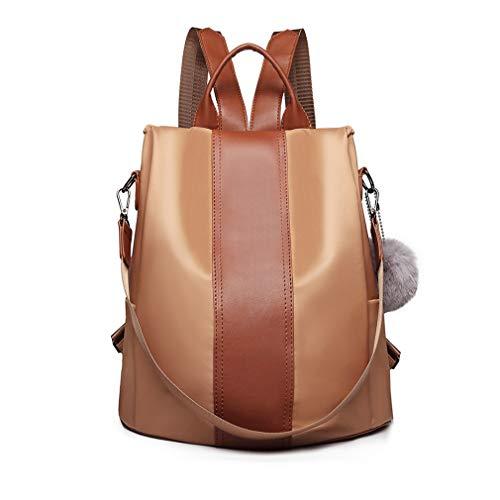 Miss Lulu Damen Rucksäcke Klein Anti Diebstahl Handtasche Casual Daypack für Damen Mädchen M (Braun)