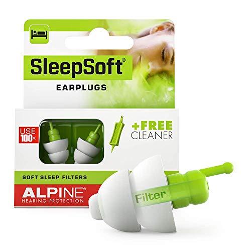 Alpine SleepSoft Ohrstöpsel (2019) - Schalldämpfer Schnarchen und verbessert den Schlaf - Soft-Filter zum Schlafen – Hypoallergenes Material – Wiederverwendbare Gehörschutz