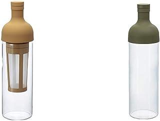 HARIO (ハリオ) フィルターイン コーヒーボトル 650ml モカ FIC-70-MC & (ハリオ) フィルターインボトル 750ml オリーブグリーン FIB-75-OG【セット買い】