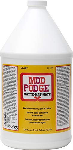 Mod Podge CS11304 Waterbase Sealer, Glue & Decoupage Finish, 128 oz, Matte