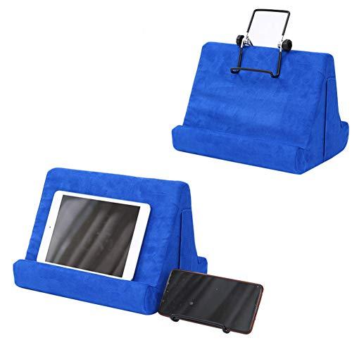 Ourine Soporte de cojín para tablet, soporte universal para teléfono y tablet, para casa, oficina, color azul