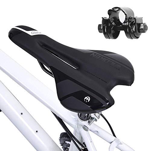 Asvert Sillin Bicicleta Antiprostatico,Asiento Bbicicleta,Sillin Bicicleta Gel Sillin Bicicleta Montaña,Sillin MTB,Sillin Bicicleta Gel btt (M5)