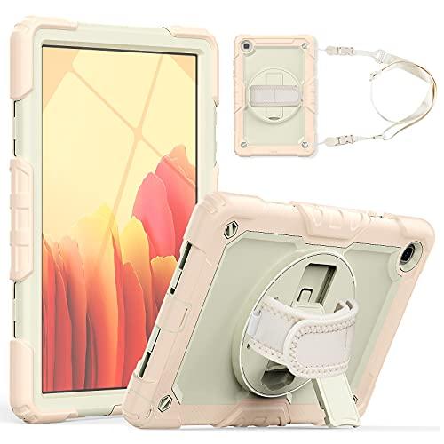 Funda protectora para tablet PC Funda de tableta para Samsung Galaxy Tab A7 10.4 'T500 / T505 2020 TRES-CAPA A prueba de descargas a prueba de golpes, con soporte giratorio, correa de hombro PC + cubi