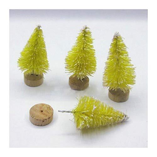 WUFANGFF 4Pcs Lot Bricolage Noël Treesmall Mini Pin Arbres Placés dans Le Bureau Home Decor Noël Décoration Enfants Cadeaux(45Mm),F