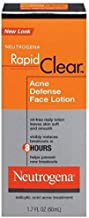 Neutrogena Rapid Clear Acne Defense Face Lotion 1.70 oz (Pack of 4)
