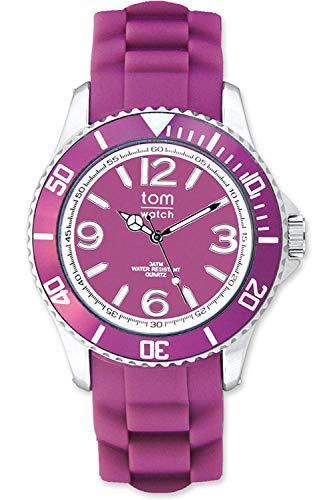 tom watch Damen Analog Quarz Uhr mit Gummi Armband WA00030