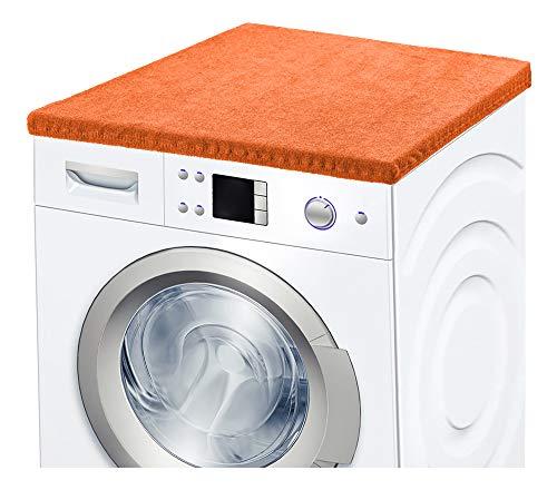 Ladeheid Waschmaschinenbezug Frotteebezug 50x60 cm (Dunkelorange)