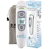 Hospital Medical Grade Digital Infrared Forehead & Ear Thermometer for Baby and Children's, Forehead Thermometer and Ear Function, Thermometer for Fever Suitable for Baby, Infant, Toddler, and Adults